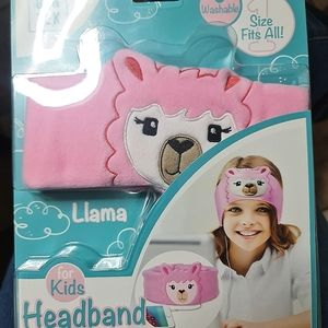 ✅FREE✅Llama Pink Kids Headband Headphones NIB